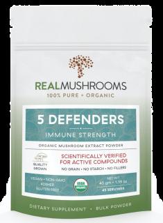 5 Defenders Organic Mushroom Complex – 45g Bulk Powder
